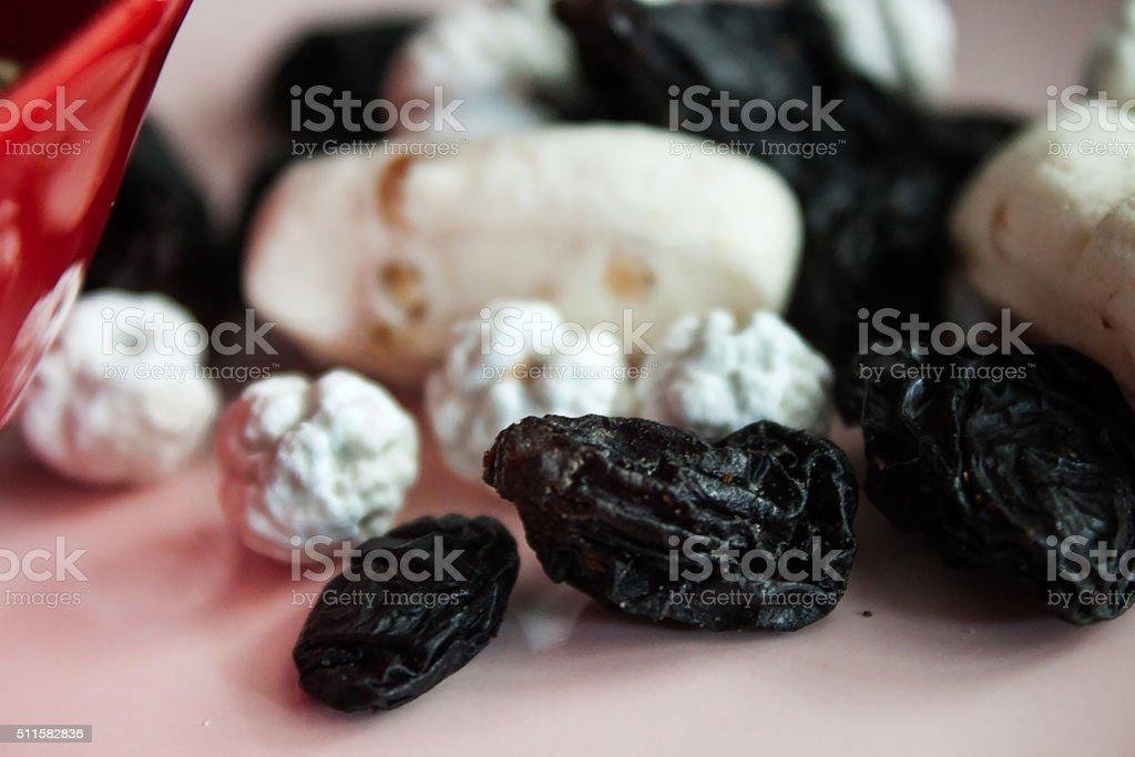 grains and roasted chick-pea, macro nuts stok fotoğrafı