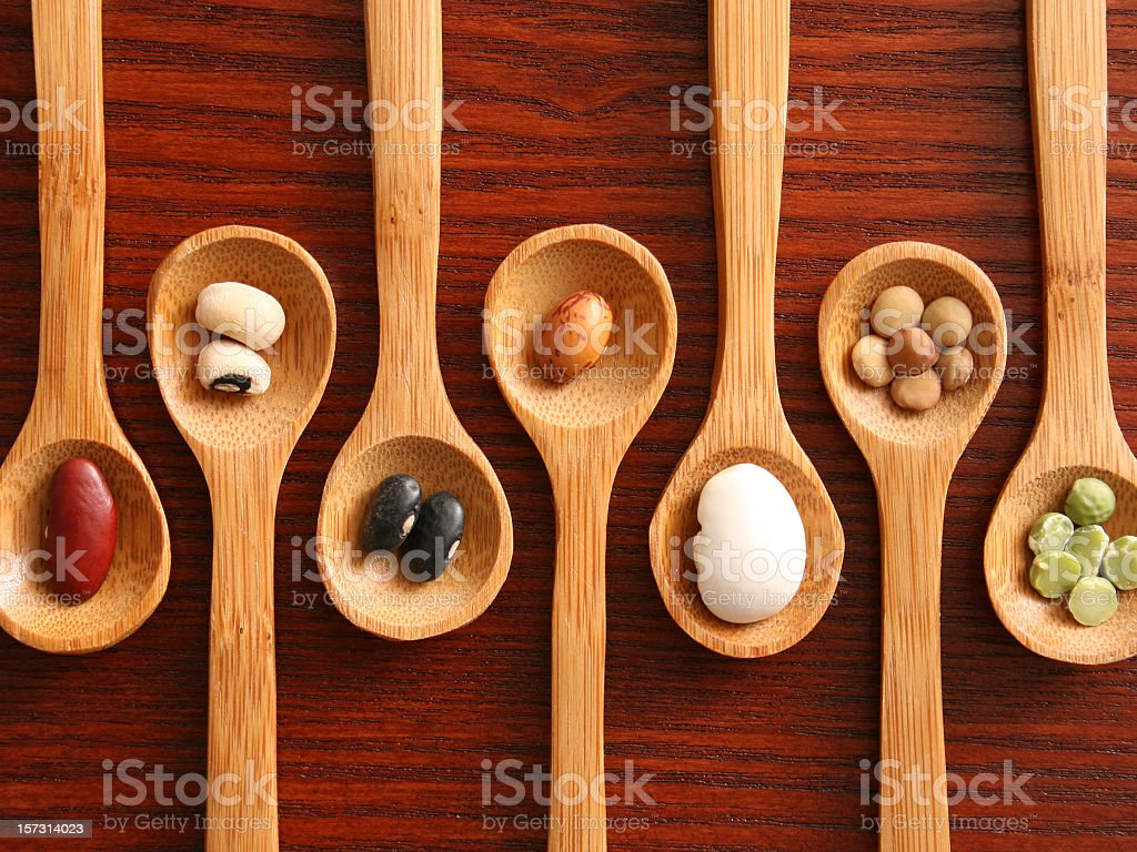 Grains and spoons royalty-free stock photo