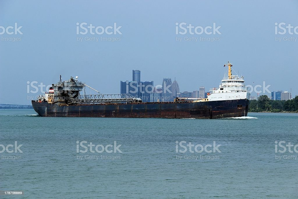 Grains Carrier Ship stock photo