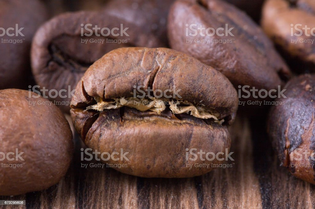 Grains of coffee close-up royalty-free stock photo