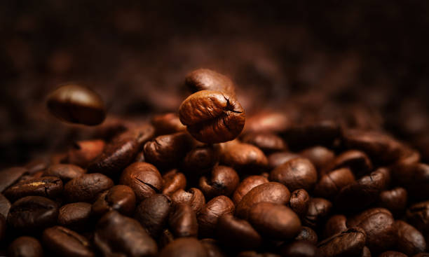 Grains of coffee close-up. Grains of coffee close-up. roasted coffee bean stock pictures, royalty-free photos & images