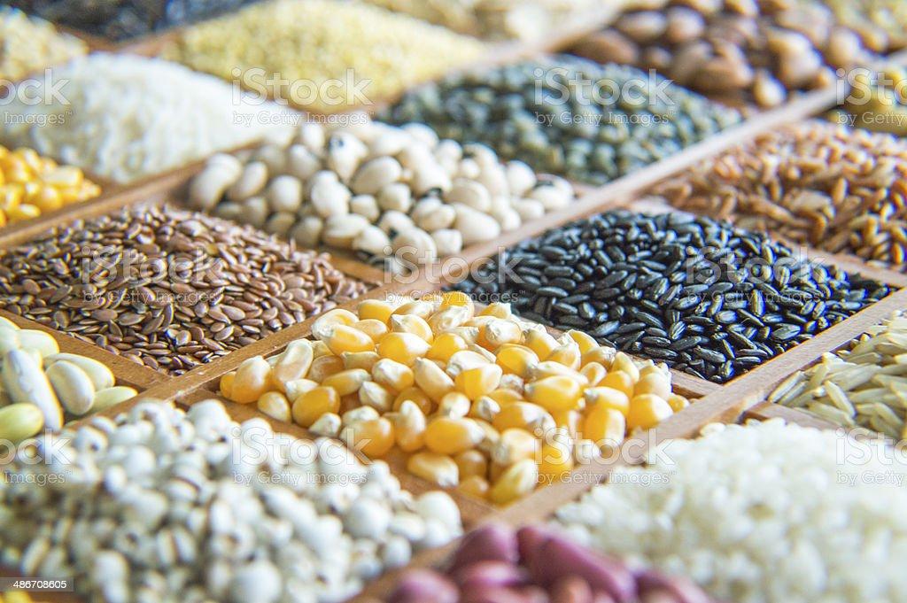 Grains. stock photo