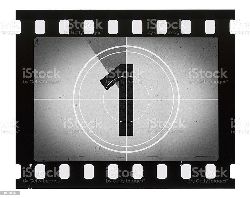 Grainy Film Frame Countdown royalty-free stock photo