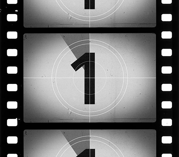 grainy film frame countdown - countdown stock photos and pictures