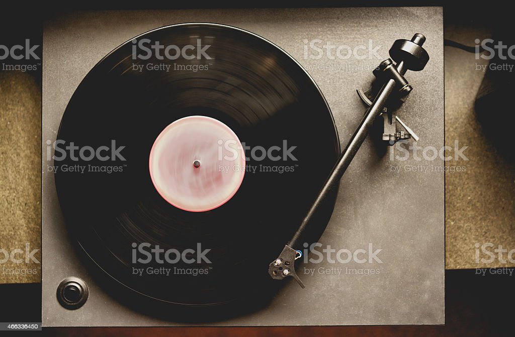 Gramaphone Record Player stock photo