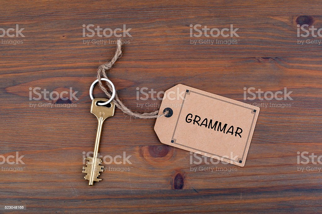 Grammar stock photo