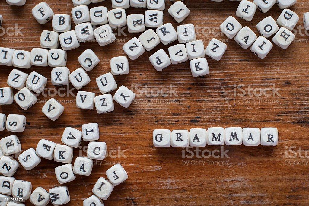 grammar stock photo