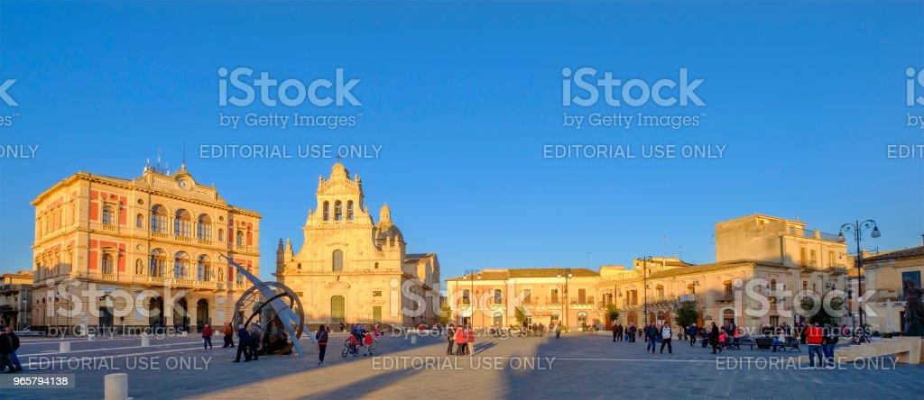 Grammichele, Piazza Carlo Maria Carafa (Sicily, Italy) - Royalty-free Architecture Stock Photo