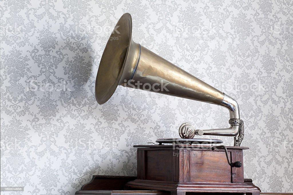 gramophone stock photo