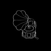 istock Gramophone.Isolated on black background. 625369948