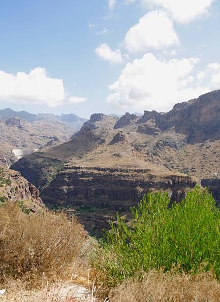 Gran canaria mountain stock photo