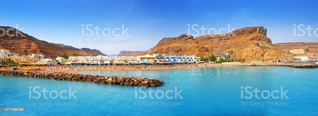 Gran canaria puerto de mogan beach stock photo