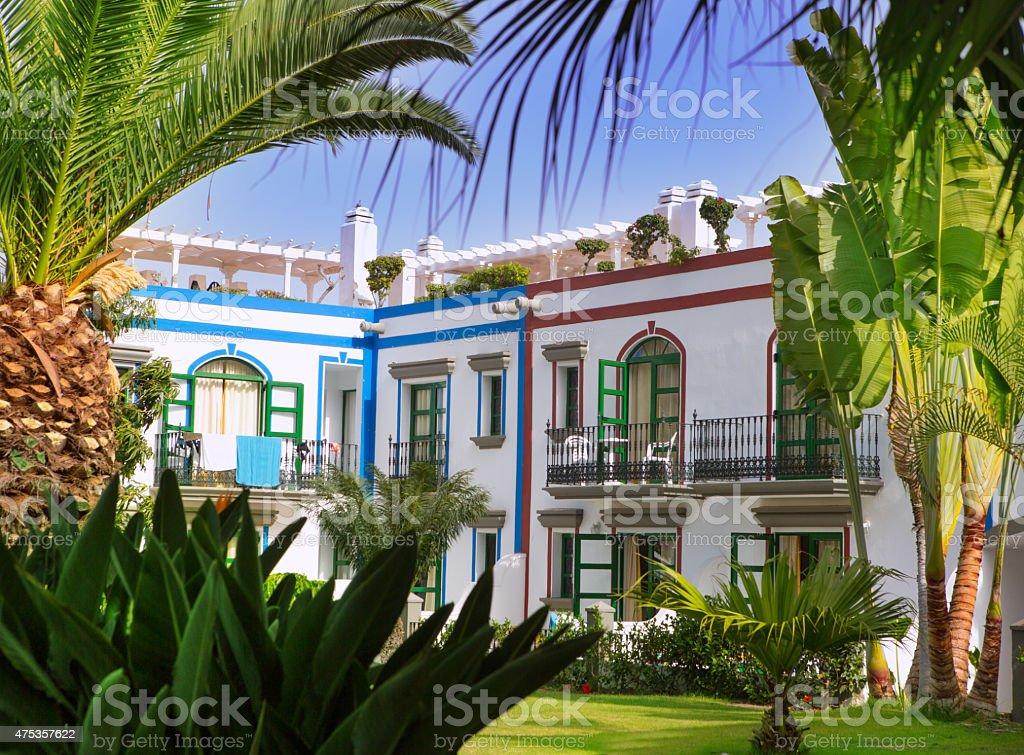 Gran canaria Puerto de Mogan white houses stock photo