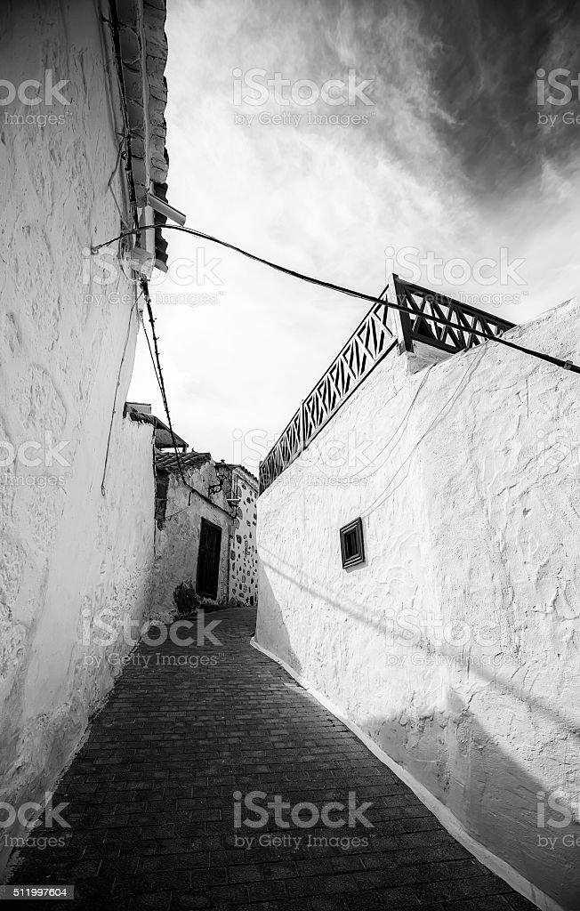 Gran Canarian romantic alley royalty-free stock photo