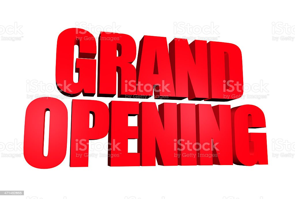Gran inauguración aislado - foto de stock