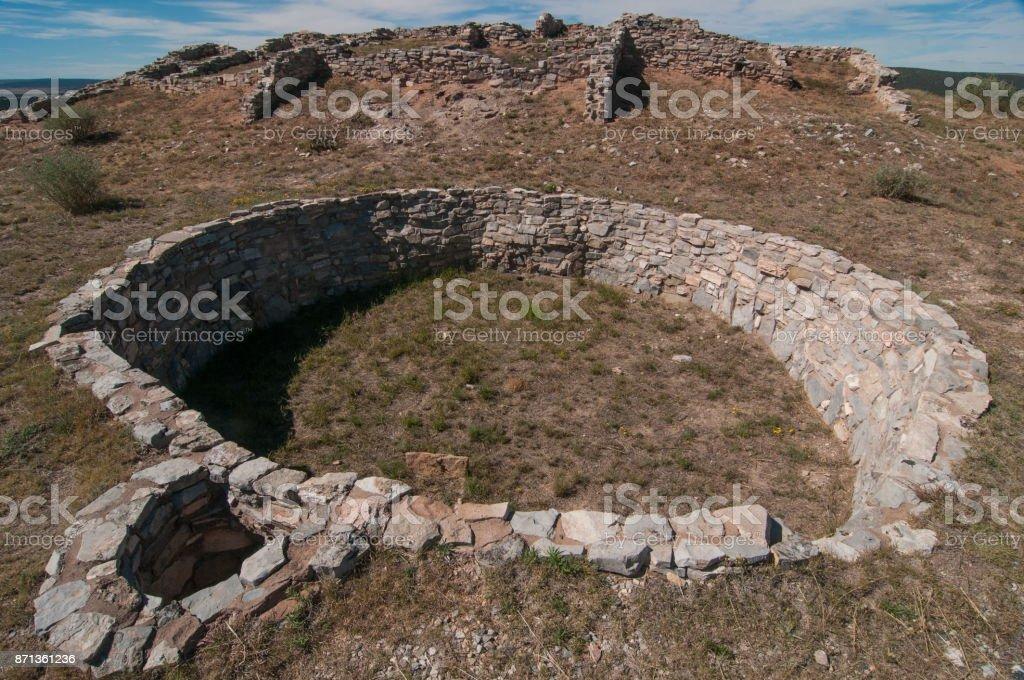 Gran Quivara Ruins Kiva stock photo