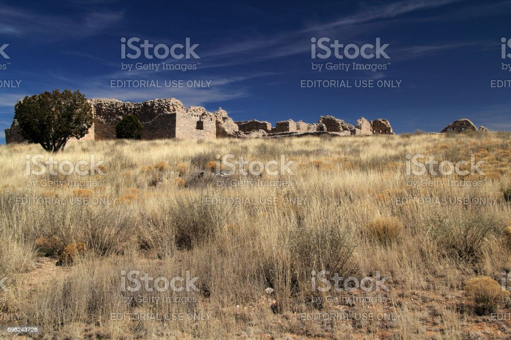 Gran Quivira Ruins stock photo