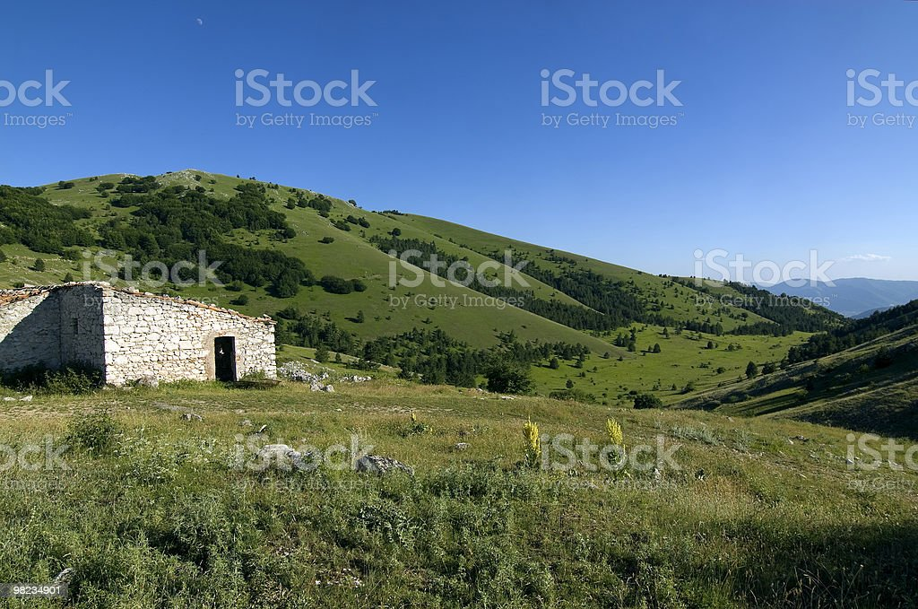 Gran Sasso d'Italia, mountain landscape at summer royalty-free stock photo