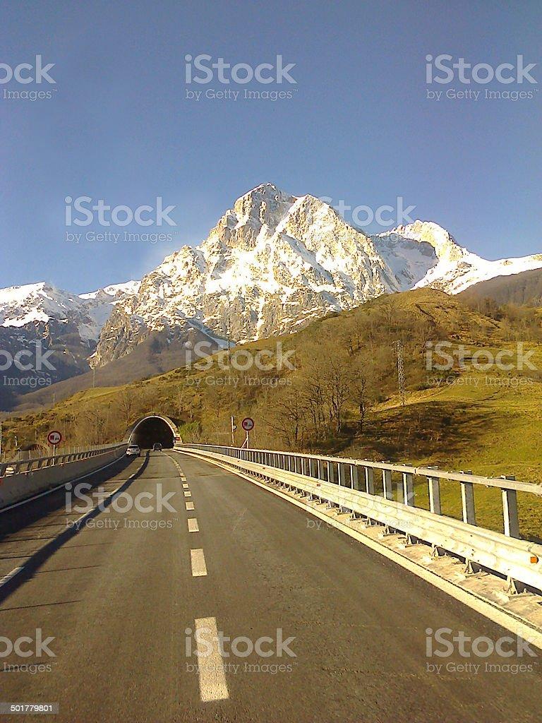 Gran Sasso Mountain stock photo