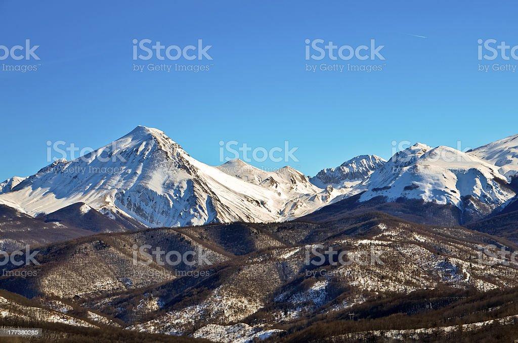 Gran Sasso of Italy stock photo