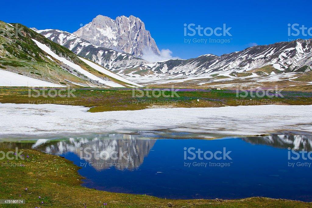 Gran Sasso peak in Abruzzo stock photo