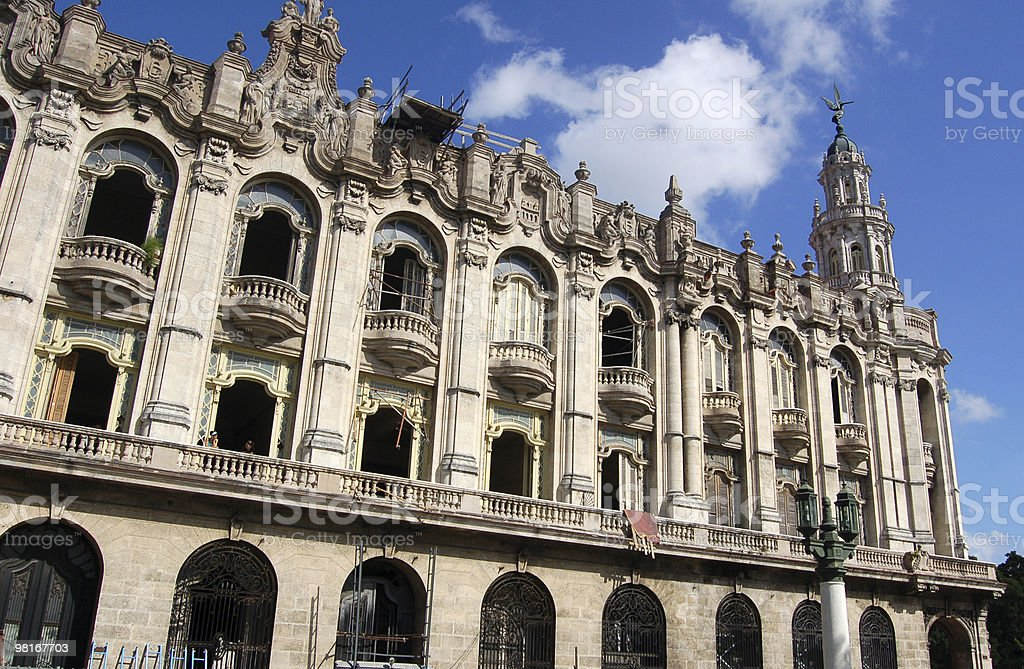 Gran Teatro, Havana, Cuba royalty-free stock photo