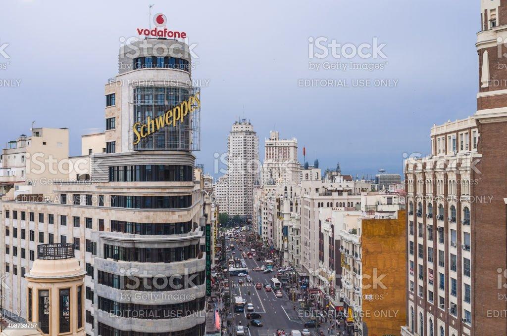 Gran Via Boulevard royalty-free stock photo