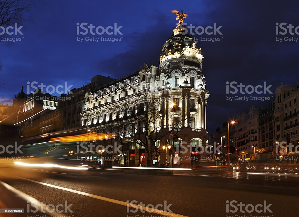 Gran Via de Madrid royalty-free stock photo