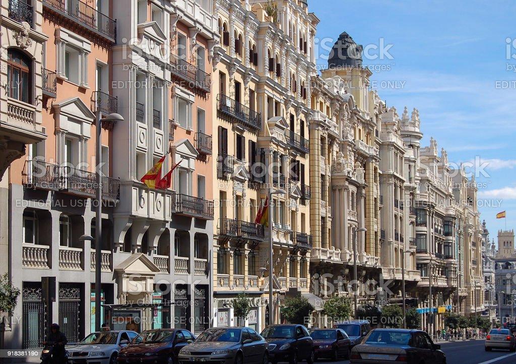 Gran Via - Madrid stock photo