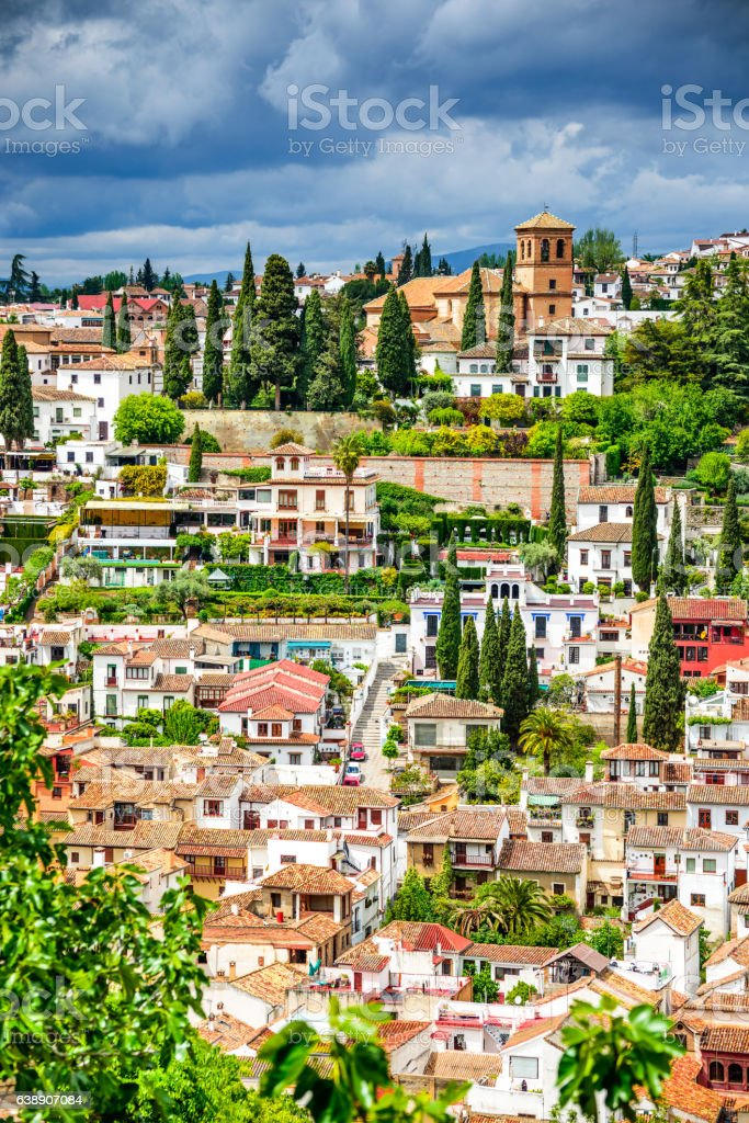 Granada Albaicin Moorish Quarter Andalusia In Spain Stock Photo