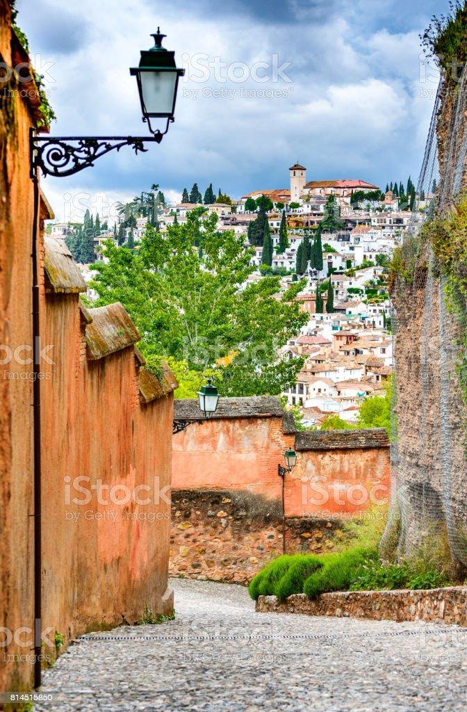 Granada - Albaicin Moorish quarter, Andalusia in Spain stock photo