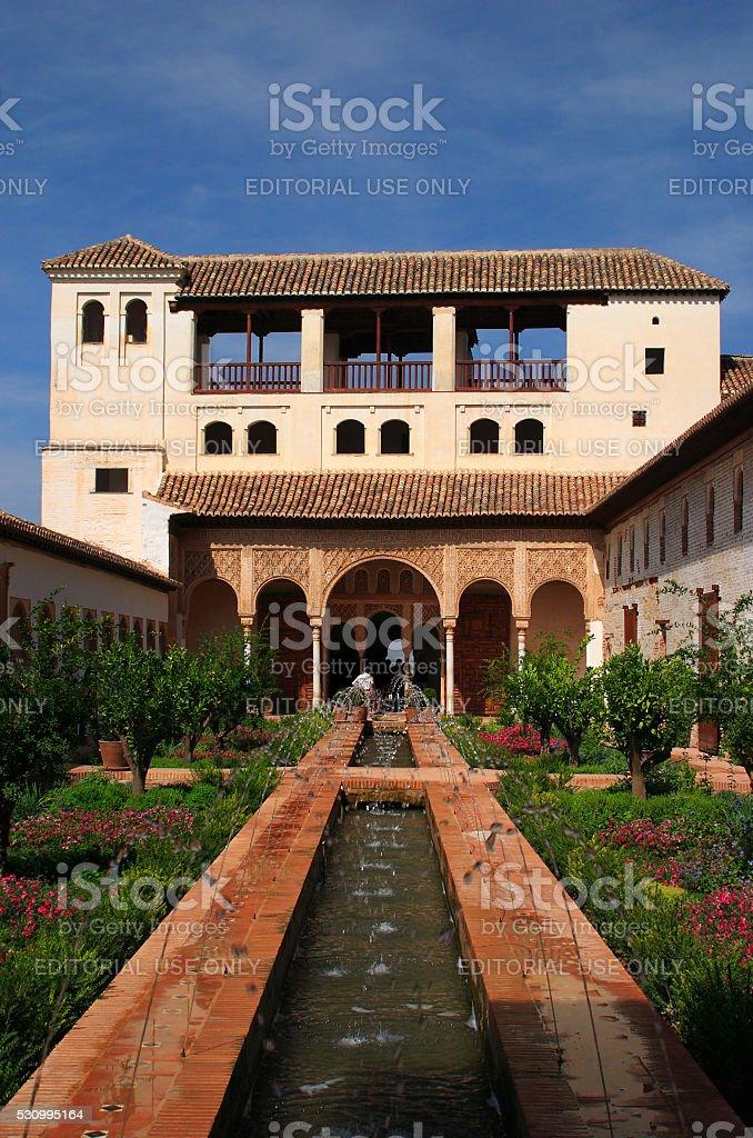 Granada, Andalucia, Spain. Alhambra palace. stock photo