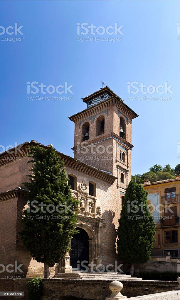 Granada Church of Saint Anne and Saint Gil stock photo