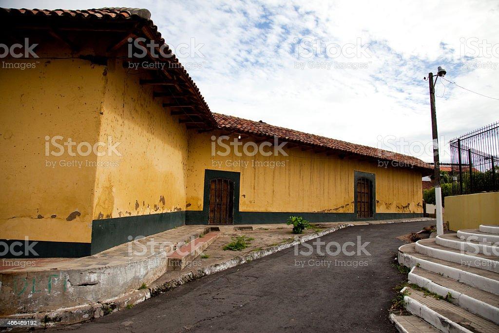 Granada Street in Nicaragua stock photo