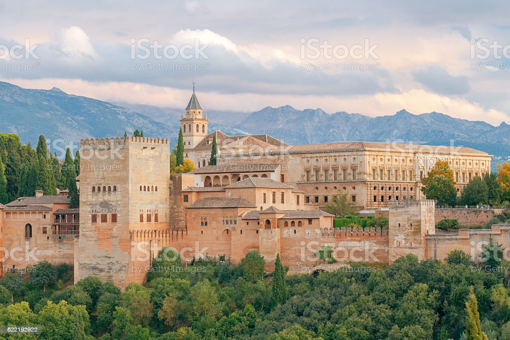 Granada. The fortress and palace complex Alhambra. - foto de acervo