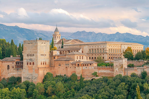 granada. the fortress and palace complex alhambra. - アルハンブラ ストックフォトと画像