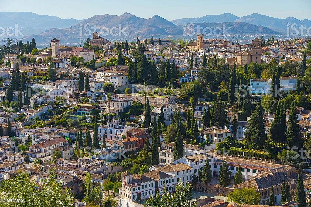 Granada view, Spain. stock photo