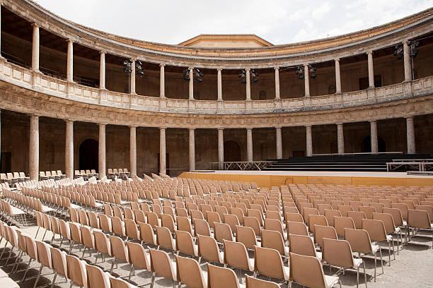 -Granada-Alhambra-Charles V Palace- Charles V Palace in Alhambra-Granada-Espana. palace of charles v stock pictures, royalty-free photos & images