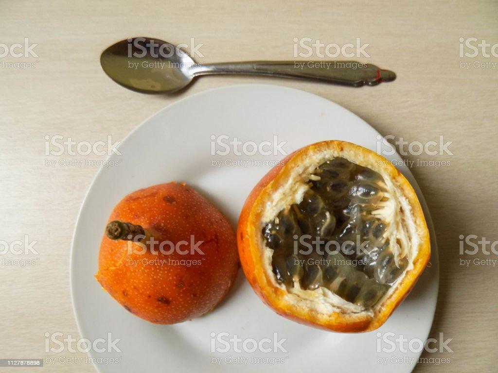 Granadilla lista para comer II stock photo