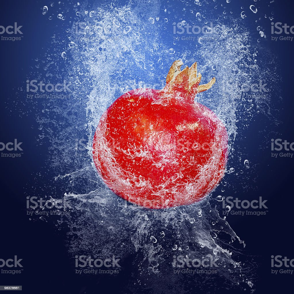 Granate in acqua foto stock royalty-free