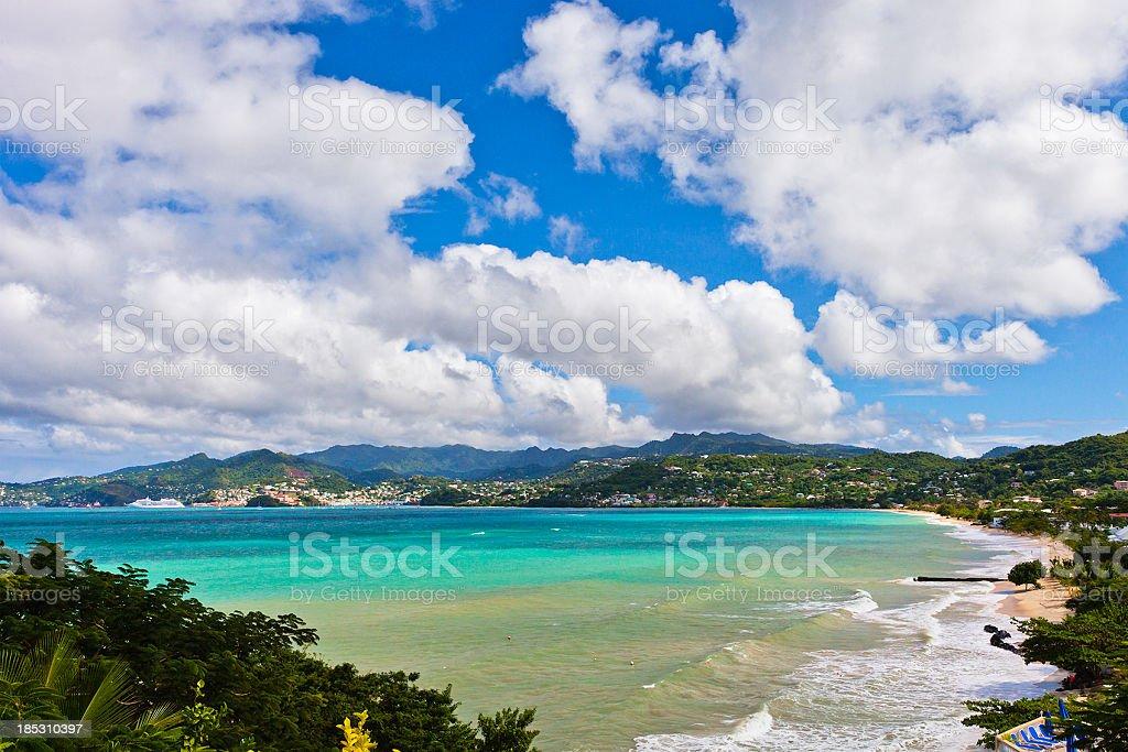 Grand Anse Bay, Grenada royalty-free stock photo