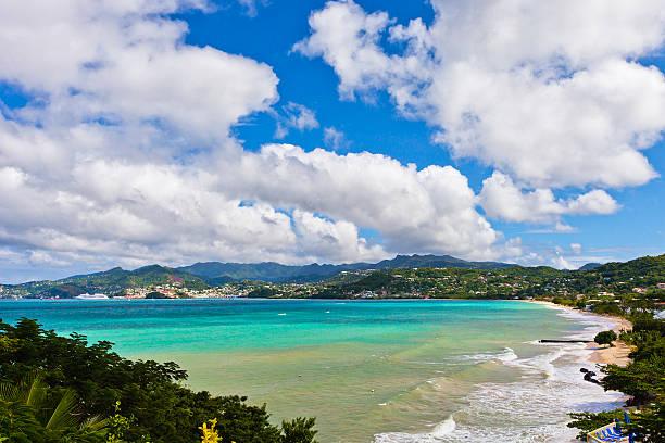 Grand Anse Bay, Grenada stock photo