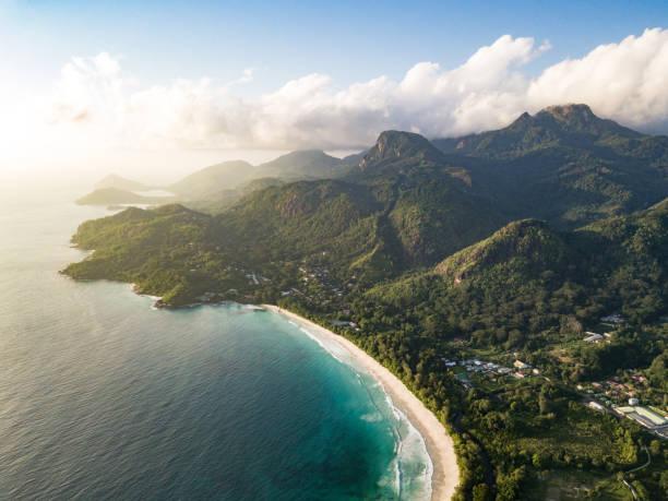 Grand Anse Mahe Island Seychelles Beach Coastline stock photo