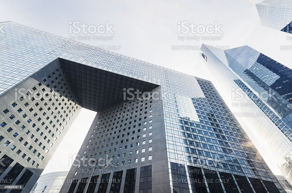 Grand Arche in La defense - Paris royalty-free stock photo