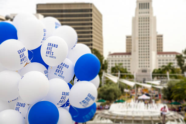 Grand Ave Arts Balloons - Los Angeles stock photo