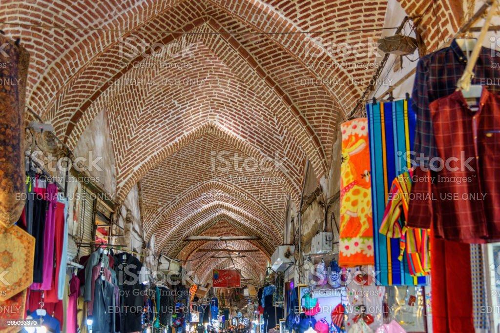Grand Bazaar in Tabriz. East Azerbaijan province. Iran zbiór zdjęć royalty-free