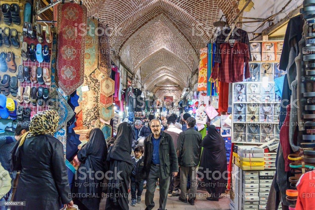 Grand Bazaar in Tabriz. East Azerbaijan province. Iran royalty-free stock photo