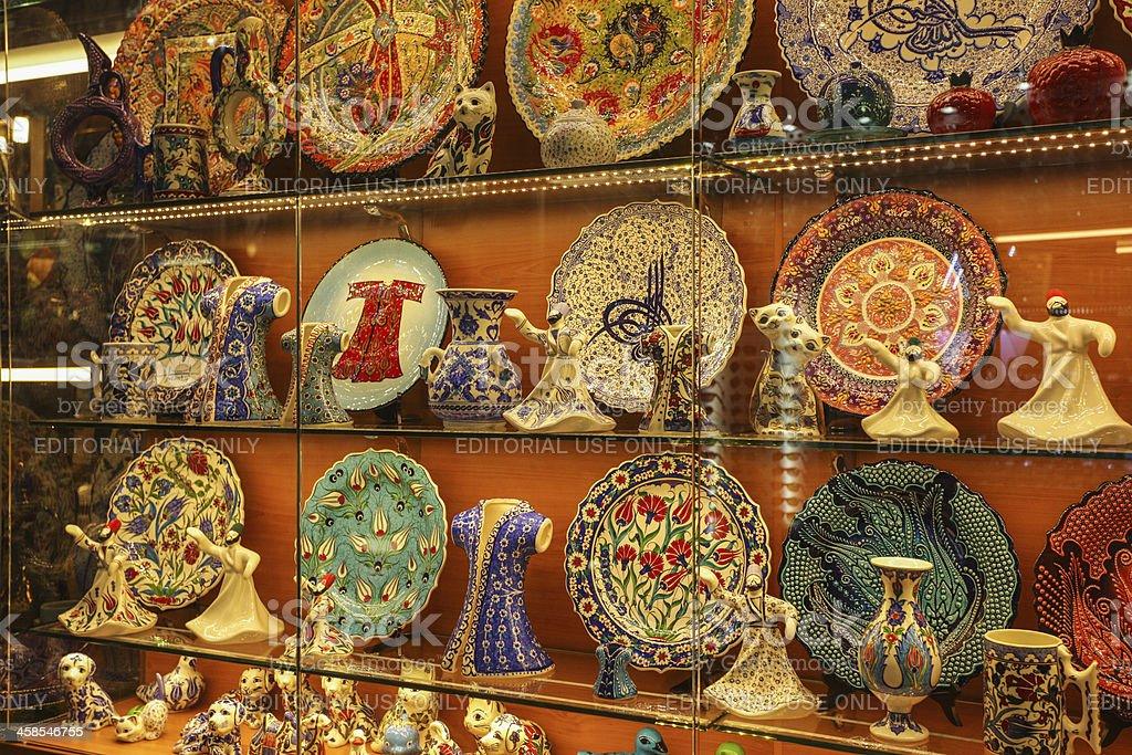 Grand Bazaar - Kapali Carsi in Istanbul, Turkey stock photo