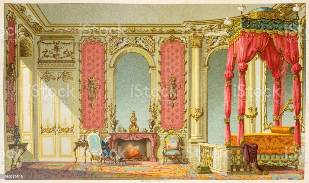 Grande quarto de século 18 na França - foto de acervo