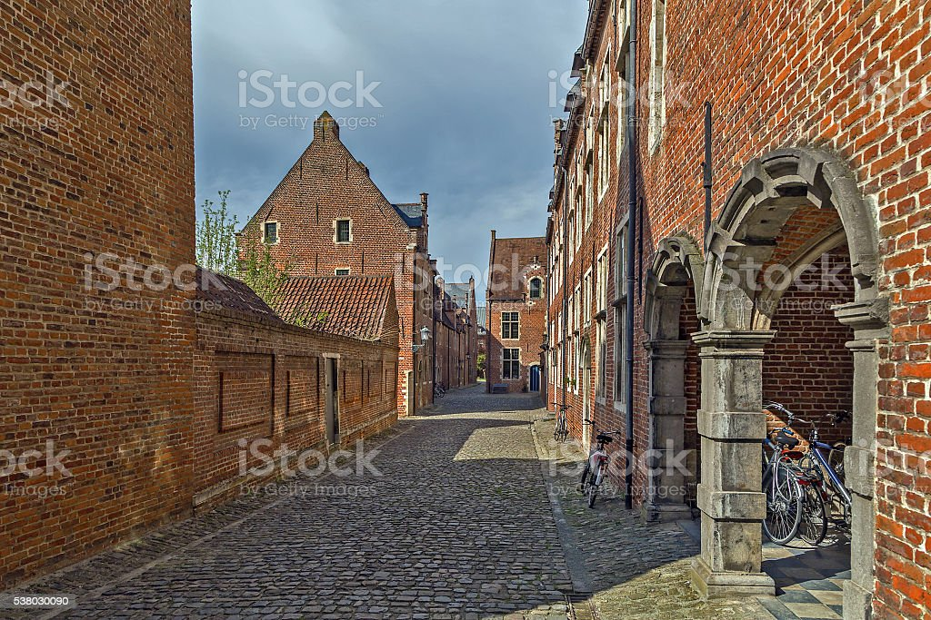 Grand Beguinage, Leuven, Belgium stock photo